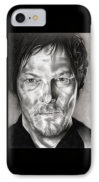 Daryl Dixon - The Walking Dead IPhone Case by Fred Larucci