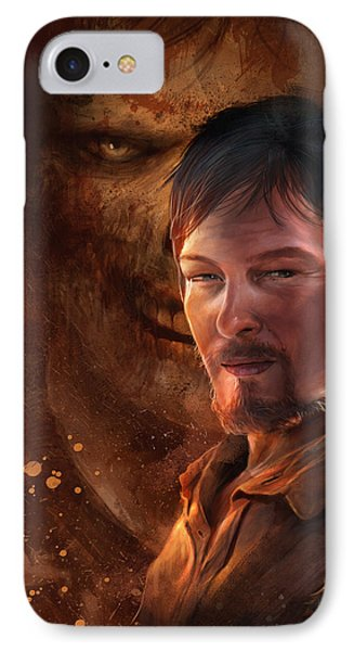 IPhone Case featuring the digital art Daryl by Steve Goad