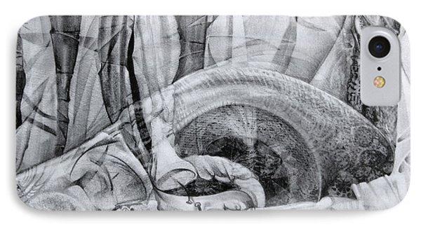 Das Monster Hat Sich Im Ungebuegelten Hintergrund Versteckt Phone Case by Otto Rapp