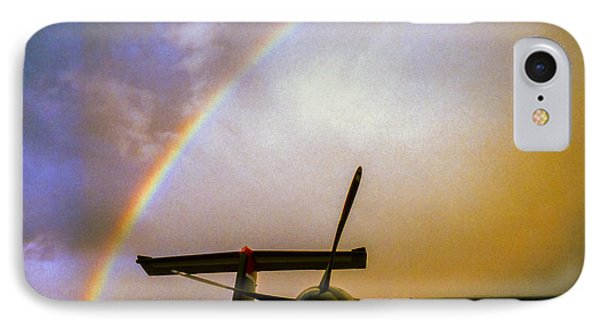 Dash 8 And Rainbow IPhone Case by Greg Reed