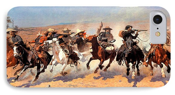 Dash For The Timber Phone Case by Frederic Remington