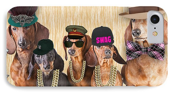 Dachshund Family IPhone Case by Marvin Blaine