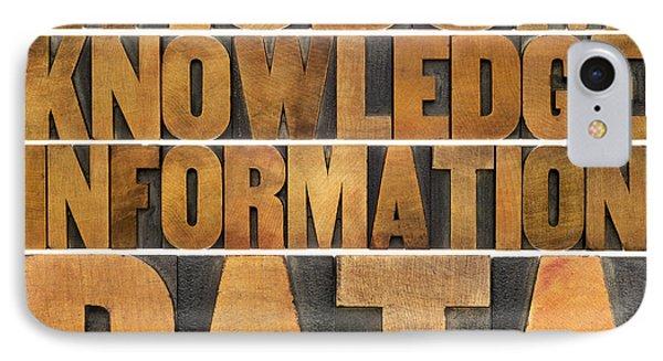 Data Information Knowledge And Wisdom IPhone Case by Marek Uliasz