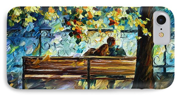 Date On The Bench Phone Case by Leonid Afremov