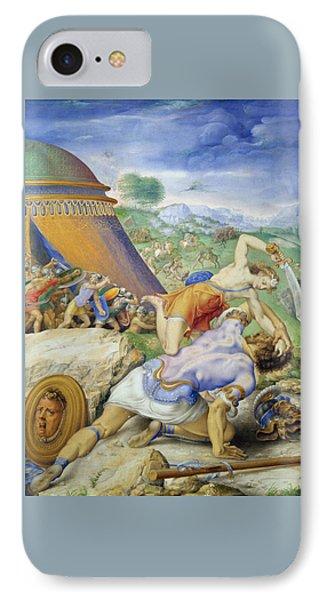 David And Goliath IPhone Case by Giorgio Giulio Clovio