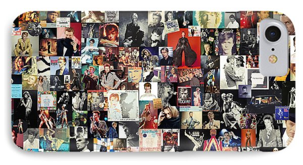 David Bowie Collage IPhone 7 Case by Taylan Apukovska