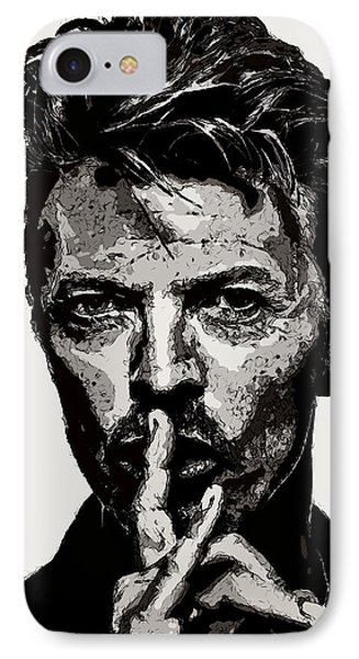 David Bowie - Pencil IPhone Case by Doc Braham