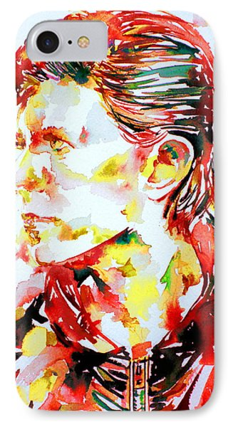 David Bowie Watercolor Portrait.1 Phone Case by Fabrizio Cassetta