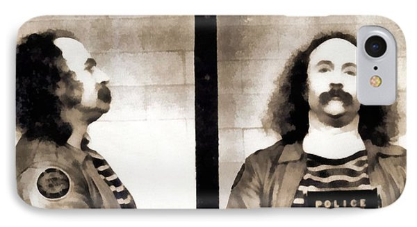 David Crosby Mugshot IPhone Case by Dan Sproul