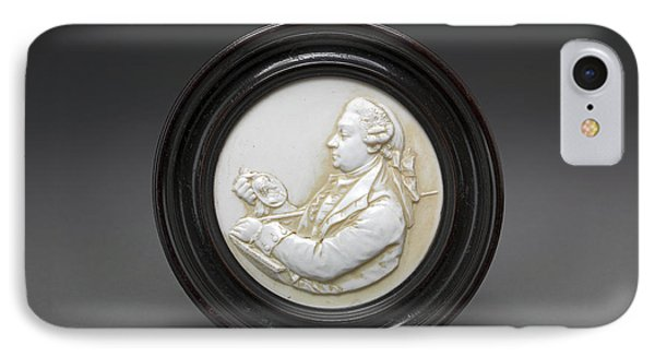 David Garrick Miniature Tassie Glass Paste Portrait IPhone Case by Litz Collection