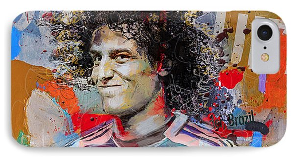 David Luiz IPhone Case by Corporate Art Task Force