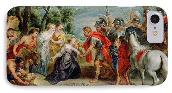 David Meeting Abigail Workshop Of Peter Paul Rubens IPhone Case by Litz Collection