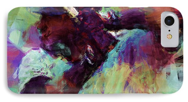 David Ortiz Abstract IPhone Case by David G Paul