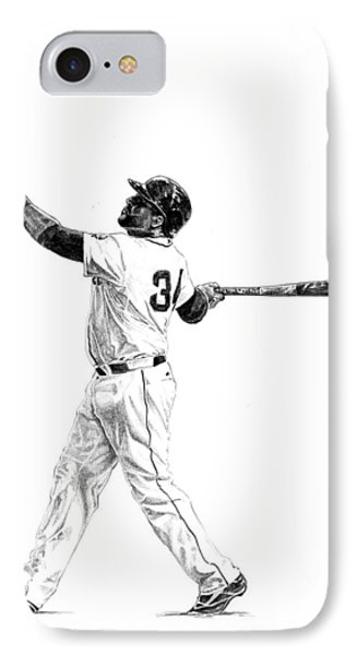David Ortiz IPhone Case by Joshua Sooter