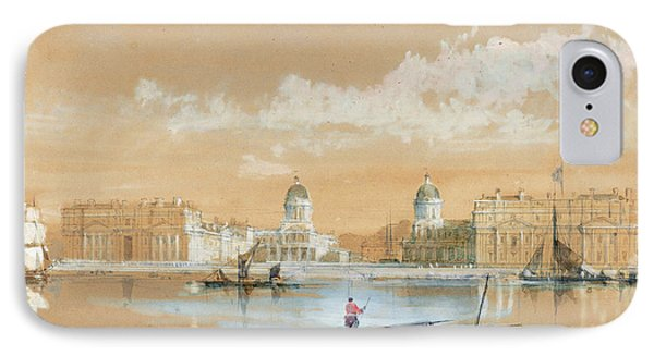 David Roberts Scottish, 1796 - 1864, The Naval College IPhone Case