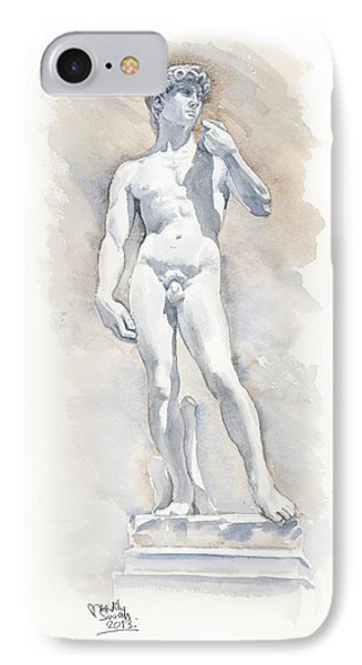 David Sculpture By Michelangelo Phone Case by Maddy Swan
