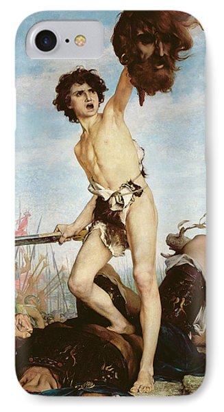 David Victorious Over Goliath Phone Case by Gabriel Joseph Marie Augustin Ferrier