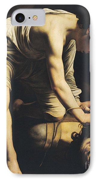 David Victorious Over Goliath IPhone Case by Michelangelo Merisi da Caravaggio