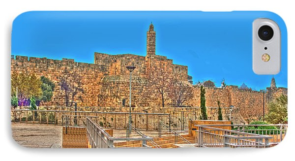 IPhone Case featuring the photograph Davids Citadel - Israel by Doc Braham