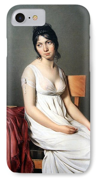 David's Portrait Of A Young Woman In White IPhone Case by Cora Wandel