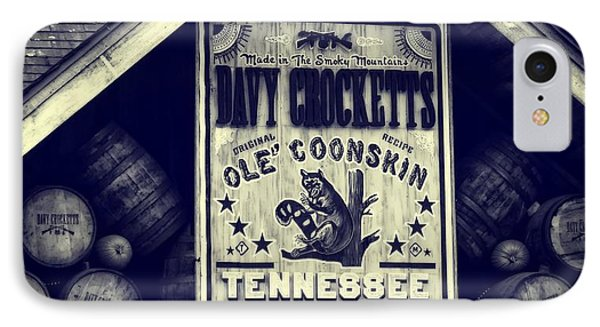 Davy Crocketts Tennessee Whiskey Phone Case by Dan Sproul