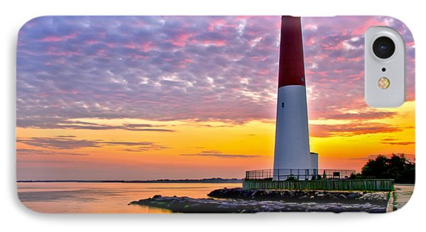 Dawn At Barnegat Lighthouse IPhone Case by Mark Miller