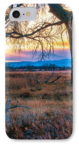 IPhone Case featuring the photograph Setting Sun At Rocky Mountain Arsenal by Tom Potter