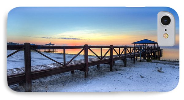 Dawn At The Dock Phone Case by Debra and Dave Vanderlaan