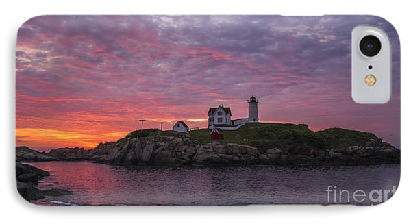 Dawn At The Nubble IPhone Case by Steven Ralser
