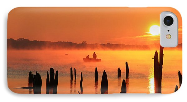 Dawn Fishing IPhone Case by Roger Becker