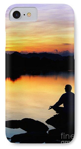 Dawn Meditation IPhone Case by Tim Gainey