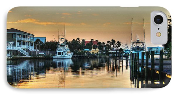 IPhone Case featuring the photograph Dawn On A Orange Beach Canal by Michael Thomas