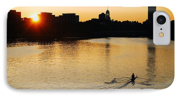Dawn On The Charles IPhone Case by James Kirkikis