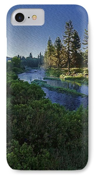 IPhone Case featuring the photograph Dawn On The River by Nancy Marie Ricketts