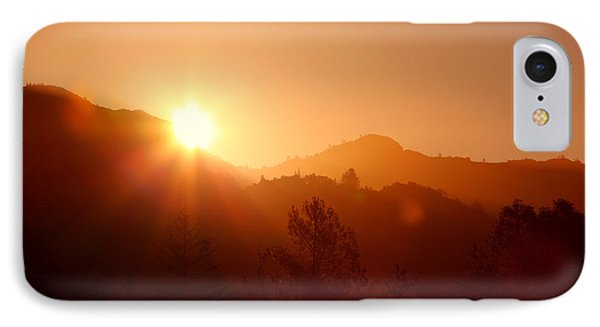Dawn Over Calistoga Phone Case by Posterity Productions