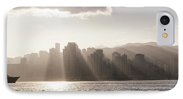 Dawn Over Central Business District IPhone Case by Panoramic Images