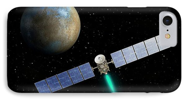 Dawn Spacecraft At Ceres IPhone Case by Nasa/jpl-caltech