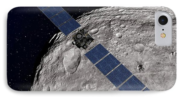 Dawn Spacecraft At Vesta IPhone Case by Nasa/jpl-caltech