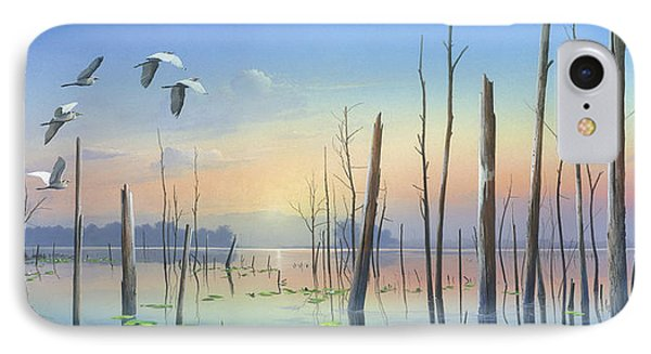 IPhone Case featuring the painting Dawns Early Light by Mike Brown