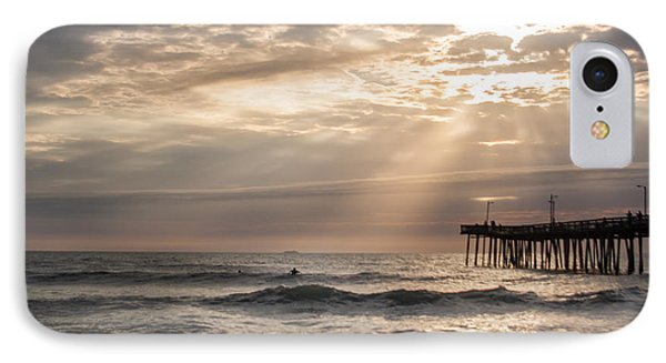 IPhone Case featuring the photograph Dawns Ocean Rays by Dawn Romine