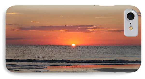 IPhone Case featuring the photograph Dawn's Orange Hues by Robert Banach