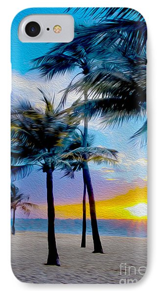 Day At The Beach IPhone Case by Jon Neidert