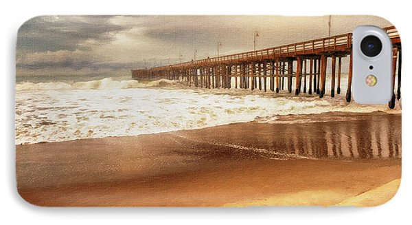 Day At The Pier Large Canvas Art, Canvas Print, Large Art, Large Wall Decor, Home Decor, Photograph IPhone Case by David Millenheft