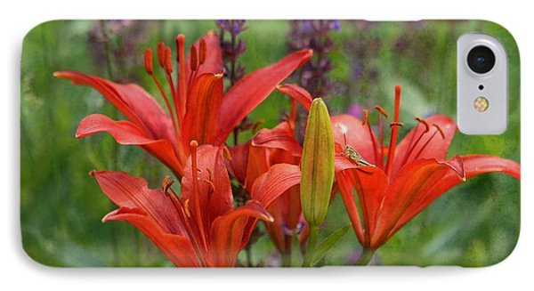 Lilies And Foe IPhone Case by Kae Cheatham