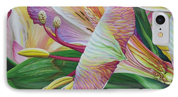 IPhone Case featuring the painting Day Lilies by Jane Girardot