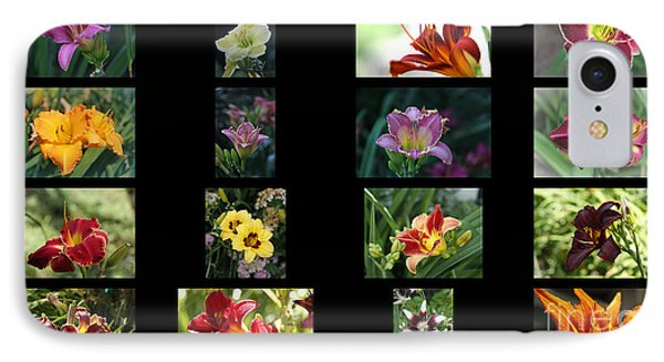 IPhone Case featuring the photograph Day Lily Collage by Yumi Johnson