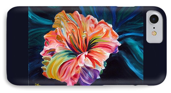 IPhone Case featuring the painting Day Lily by LaVonne Hand