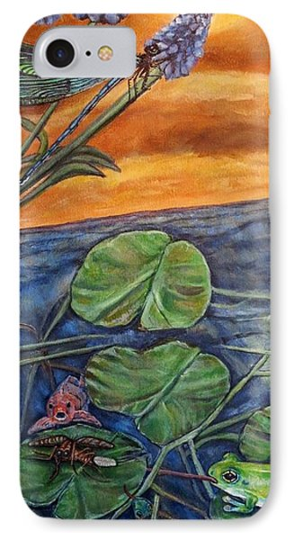 IPhone Case featuring the painting Day Of Judgment For A Pesky Mosquito by Kimberlee Baxter