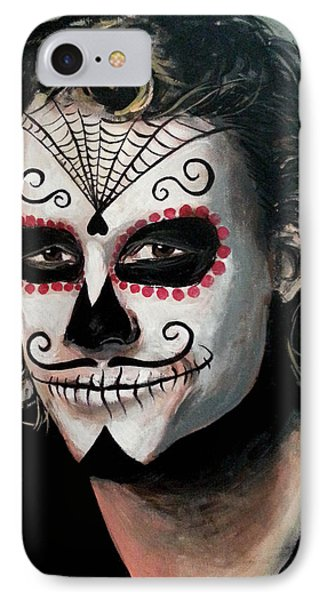 Day Of The Dead - Heath Ledger IPhone Case by Tom Carlton