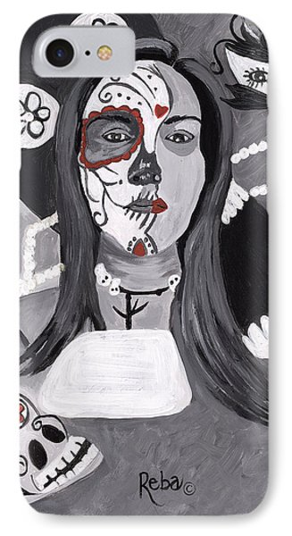 Day Of The Dead Phone Case by Reba Baptist
